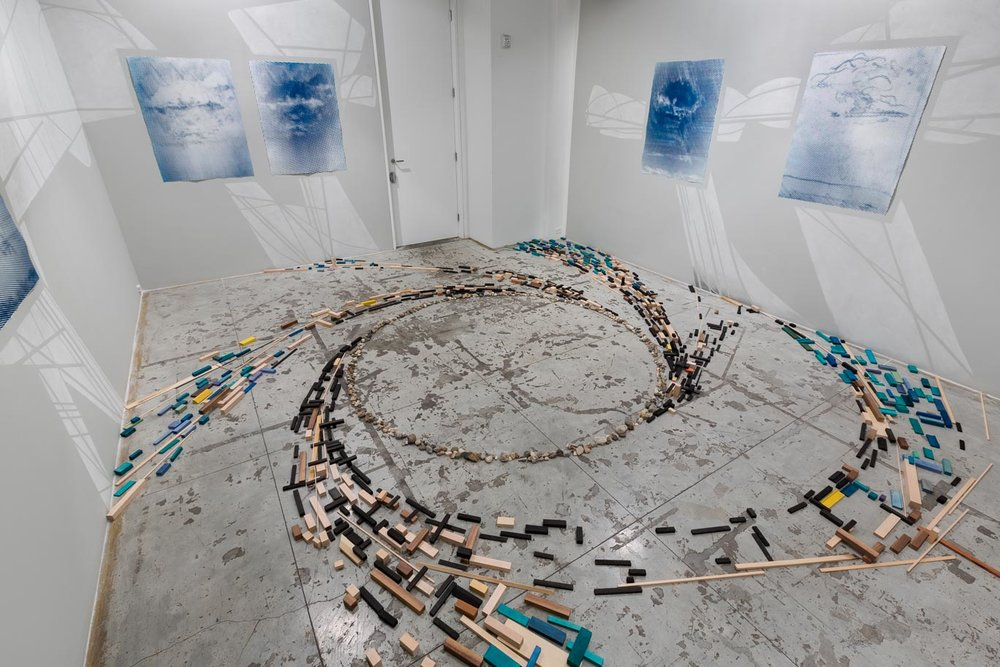 Nick Lamia: Cloud, Mountain, Valley, Sea , Installation view at Jason McCoy Gallery, 2018.