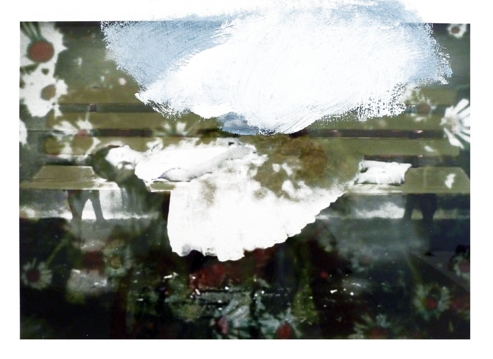 Annelies Štrba & Adrian Schiess   Untitled,  Pigment print and oil on paper 8 1/4 x 11 3/4 inches 21 x 29.8 cm