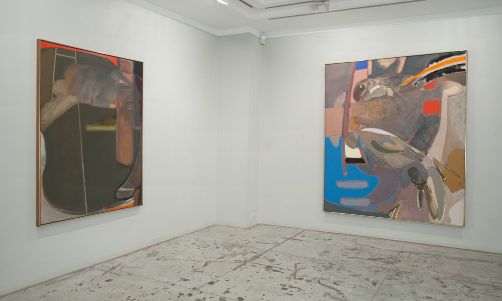 Stephen Greene: 1960s Abstractions , Installation view at Jason McCoy Gallery, 2016.