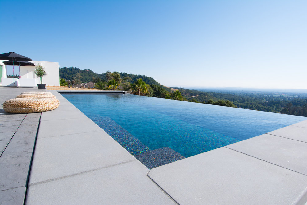 Infinity pool overlooking the valley