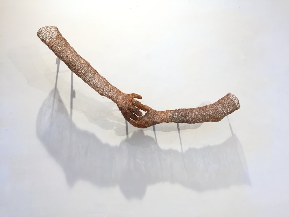 """""""Handshake"""", recycled copper wire"""