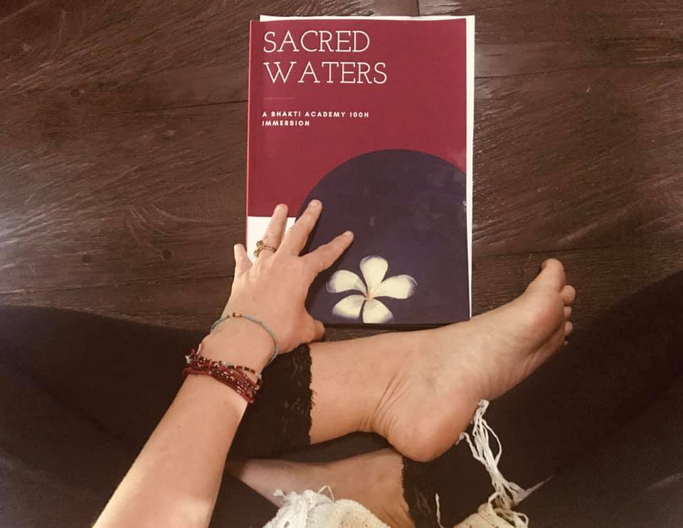 Some words out of our Sacred Waters Manual. Feeling. Breathing. Being with the waters of Bali. So we can learn to flow with our own waters as women. Teaching with my beautiful Damini  Yogalexia  here in Bali  Shakti Academy .