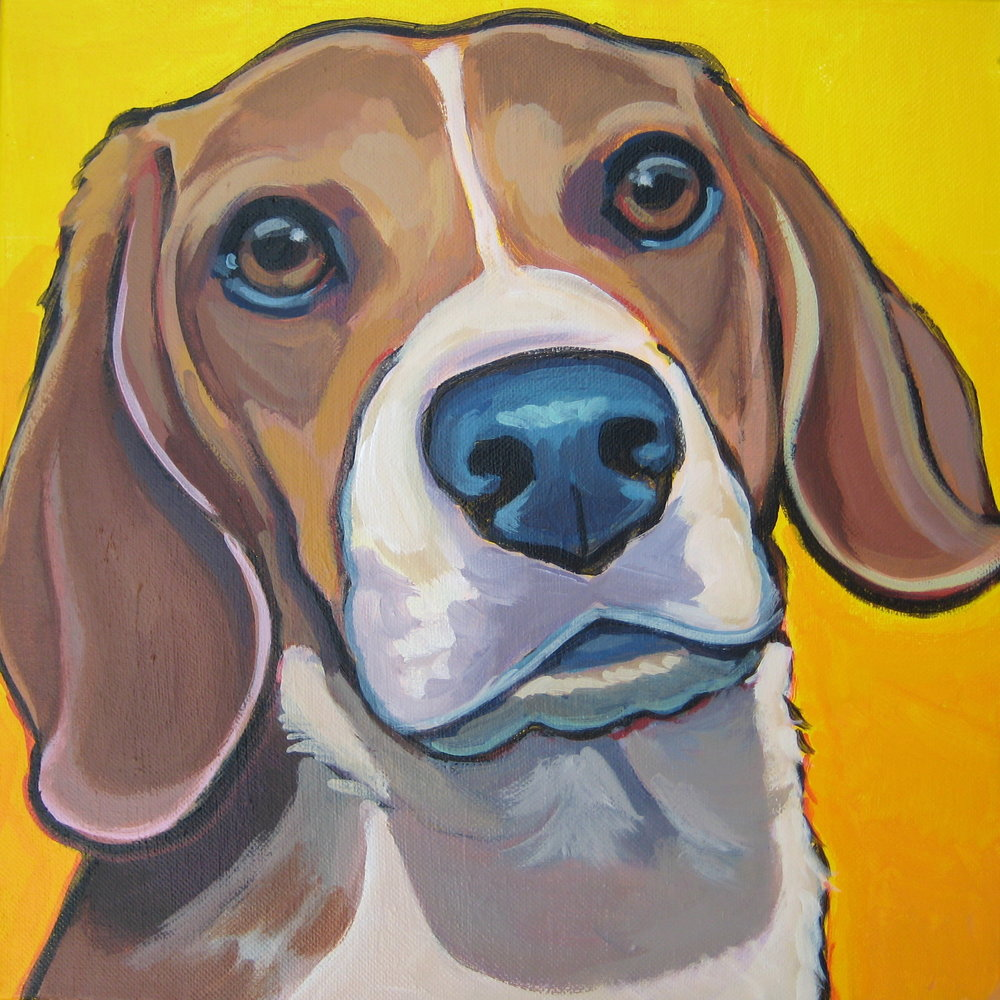 Beagle Painting Custom Pet portrait.JPG