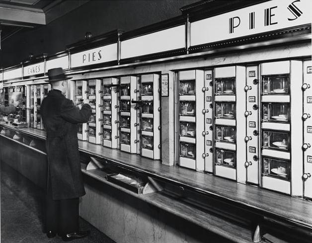 1936 New York automat (source: New York Public Library)