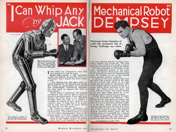 Boxing Robots of the 1930s — Paleofuture