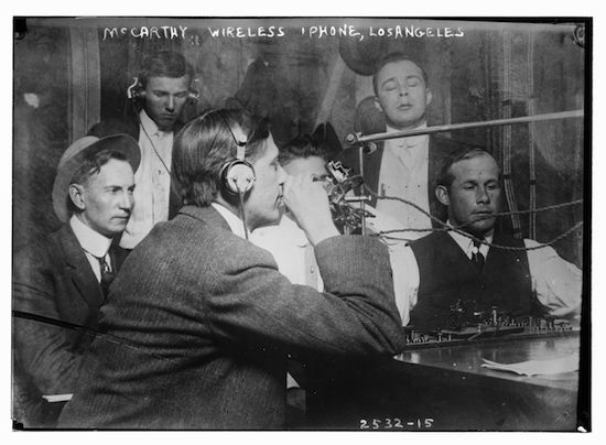 """Photo showing the """"McCarthy Wireless 'phone"""" circa 1910-15(Library of Congress)"""