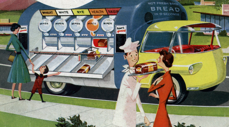 This 1950s Futuristic Food Truck Could Bake Bread in Just Nine