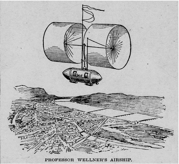 1897 May 9 Saint Paul Globe - St Paul MN prof wellner airship.jpg