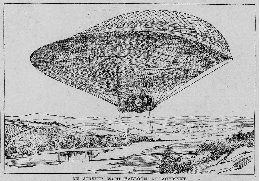 1897 May 9 Saint Paul Globe - St Paul MN airship.jpg