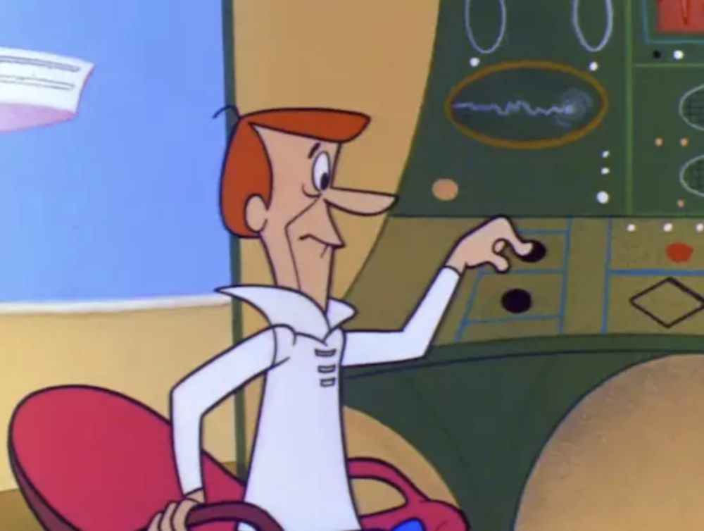 George Jetson's push-button world of leisure (from the first episode of The Jetsons in 1962)