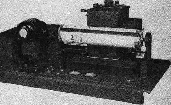 The RCA transmitter-scanner with pictures and text placed directly on the scanning drum