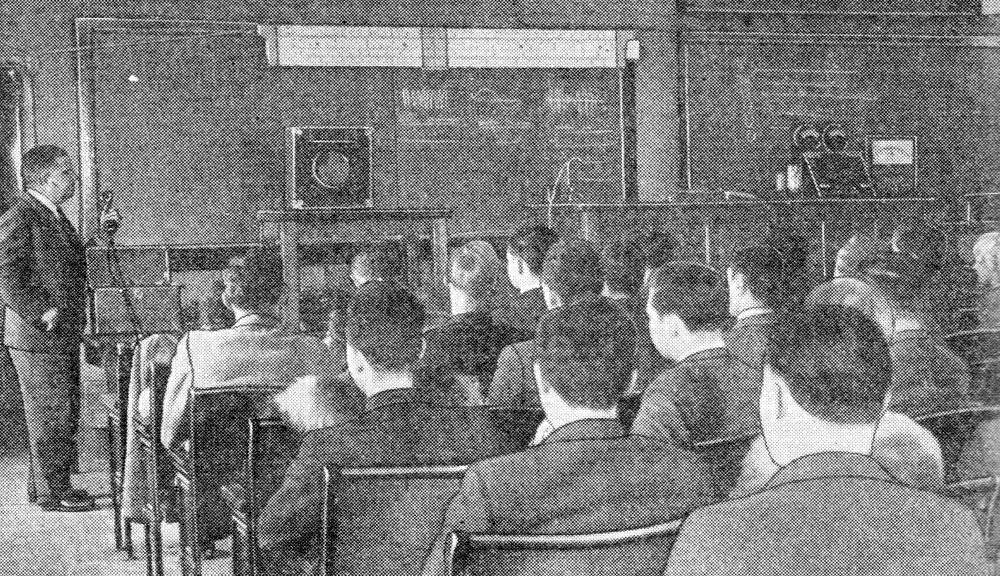 A class conducted via television in the future (1935) ( Novak Archive )