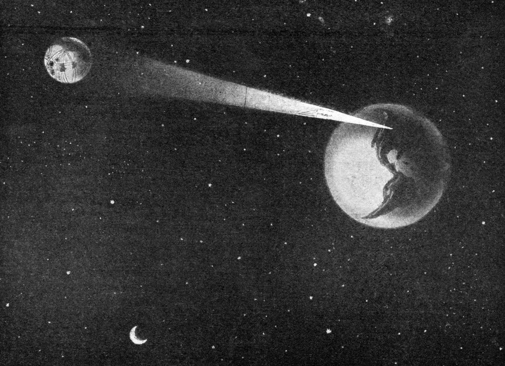 Earth flashes a message to Mars, 1919 ( Novak Archive )