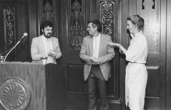 Brian Horrigan (left) and Joseph Corn (middle) and unknown