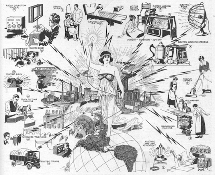 The latest appliances and gadgets from the 1919 New York Electrical Show illustrated in the December 1919 issue of Electrical Experimenter magazine (   Novak Archive   )