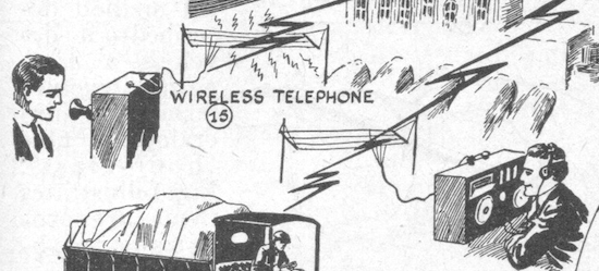 """""""Wireless telephone"""" from the 1919 New York Electrical Show (Novak Archive)"""