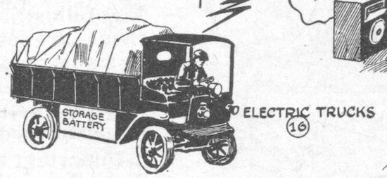 The electric truck on display at the 1919 New York Electrical Show (Novak Archive)