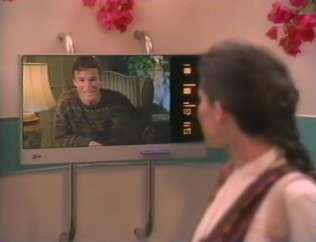 """Video payphone in the airport of the future(AT&T concept video """"Connections,"""" 1993)"""