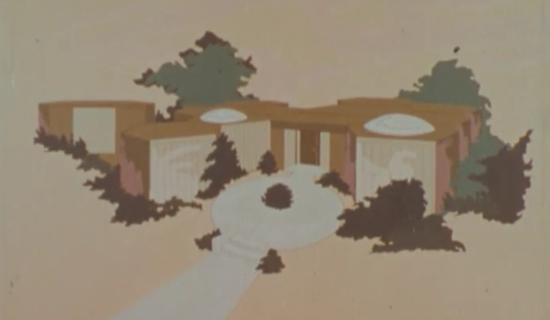 Exterior of the house of the future (1967)(CBS)