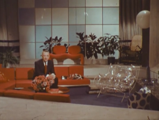 Walter Cronkite in the living room of the future (1967)(CBS)