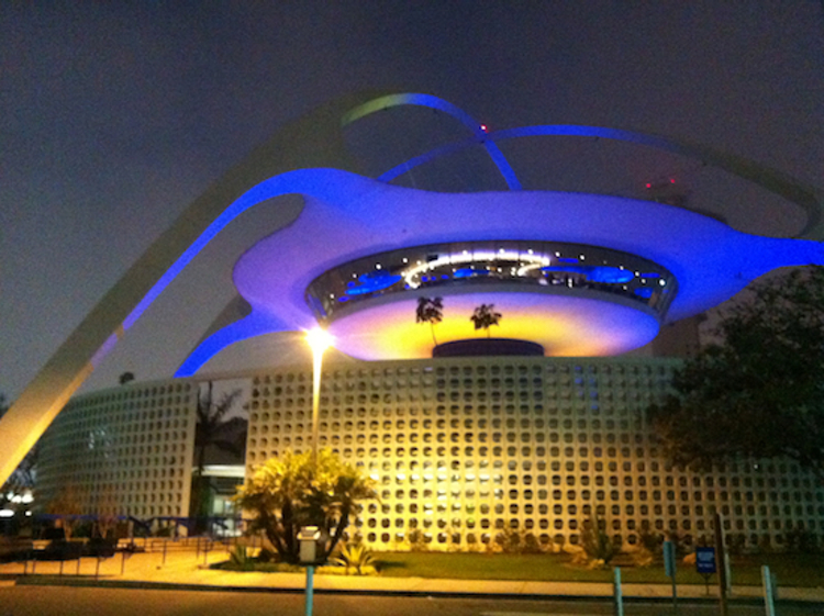 The Theme Building at the Los Angeles International Airport (Photo: Matt Novak, 2013)