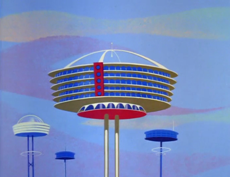 The apartment building shot that opens most episodes of The Jetsons (1963)
