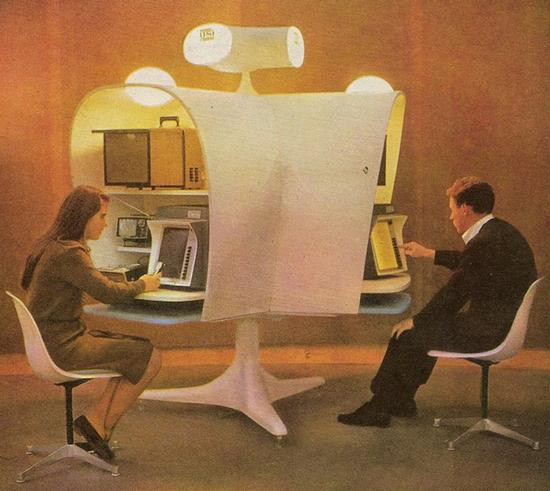 """""""Automated schoolmarm"""" at the 1964-65 New York World's Fair (Novak Archive)"""