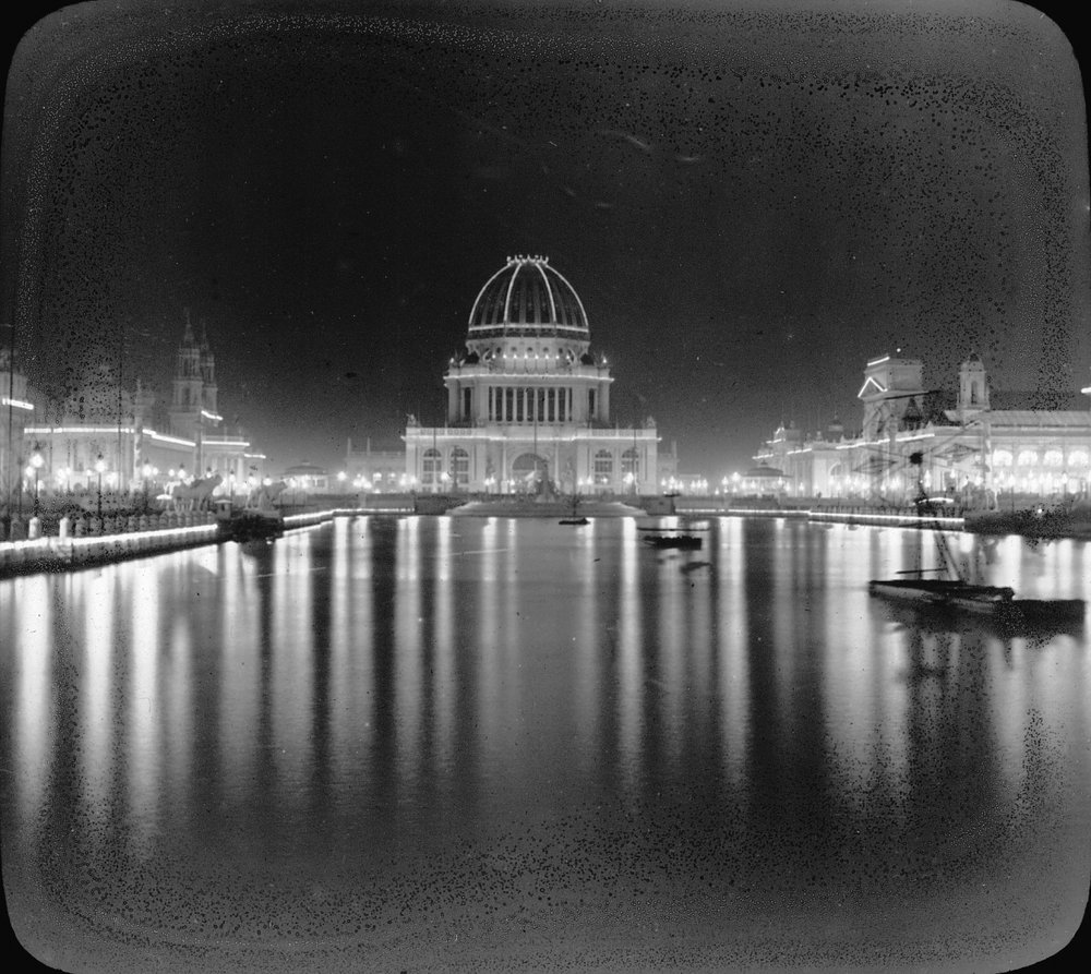 Grand Basin of the 1893 Fair from the  Brooklyn Museum