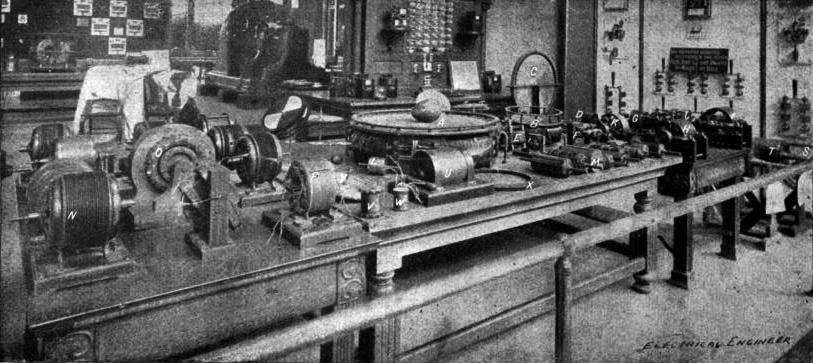 1893 photograph of Nikola Tesla's display at the Fair ( Wikimedia Commons )