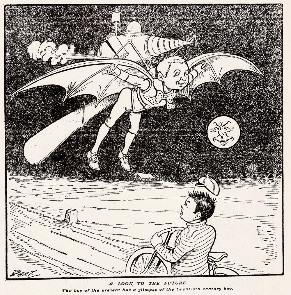 20th century boy illustration, scanned from microfilm at the  Minnesota Historical Society