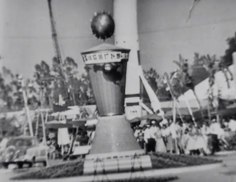 Tomorrowland Disneyland Opening Day 1955 Paleofuture