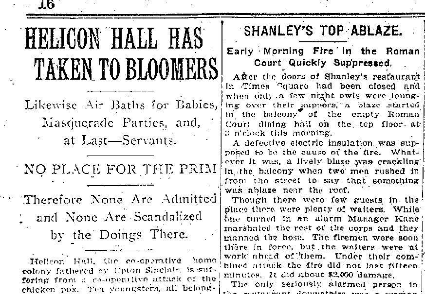 February 14, 1907 New York Times, a month before Helicon would burn to ground