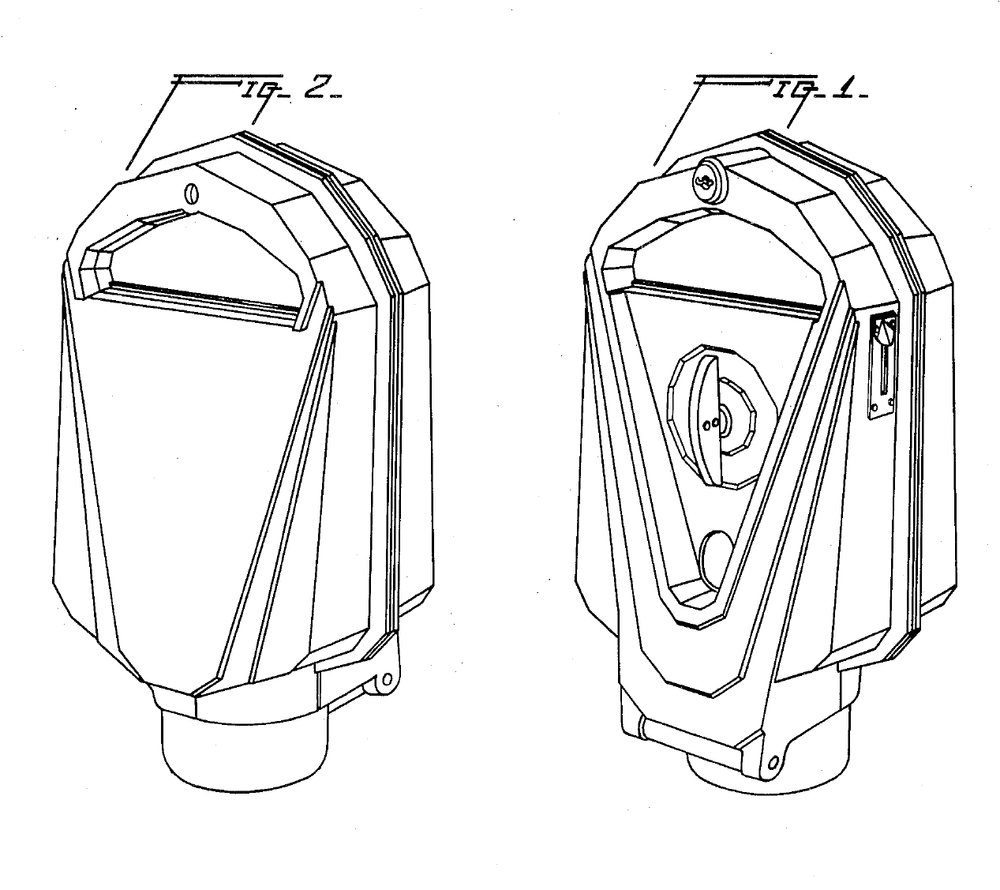 Patent of Magee's 1935 parking meter from    Google Patents