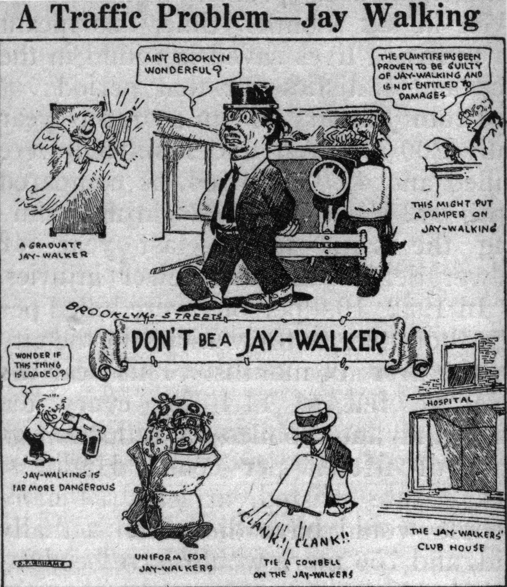 """National Safety Council, scanned from the paper """" Street Rivals: Jaywalking and the Invention of the Motor Age Street """" by Peter D. Norton"""