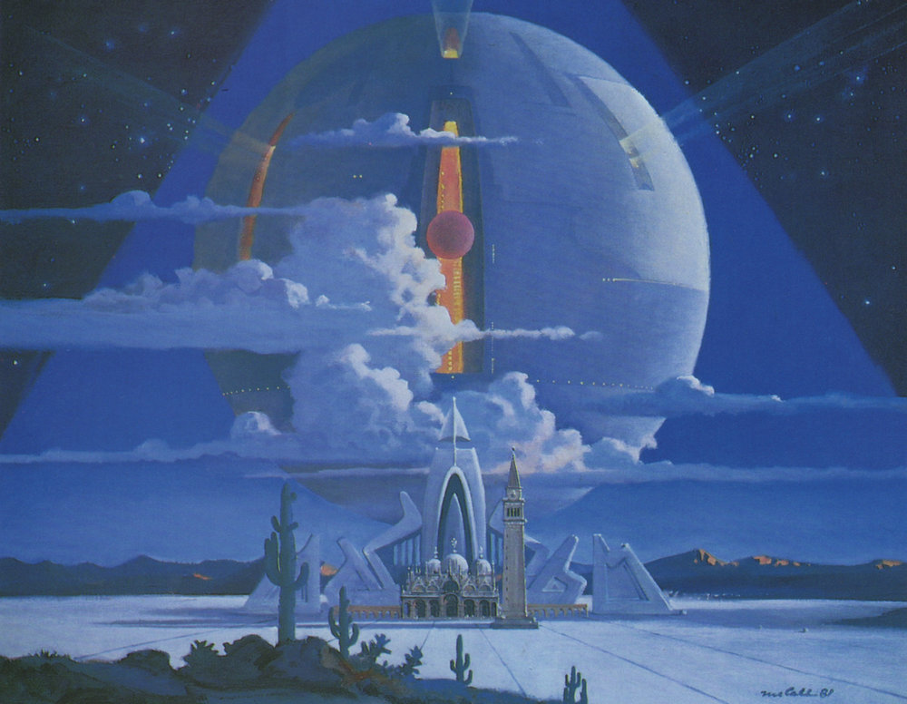 1981 painting by Robert McCall scanned from the book   Vision of the Future: The Art of Robert McCall