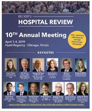 Becker's 10th Annual Meeting Speaker Series: 3 Questions