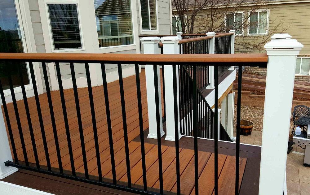 Two Tone Deck Railing - Denver Deck Builders.jpg