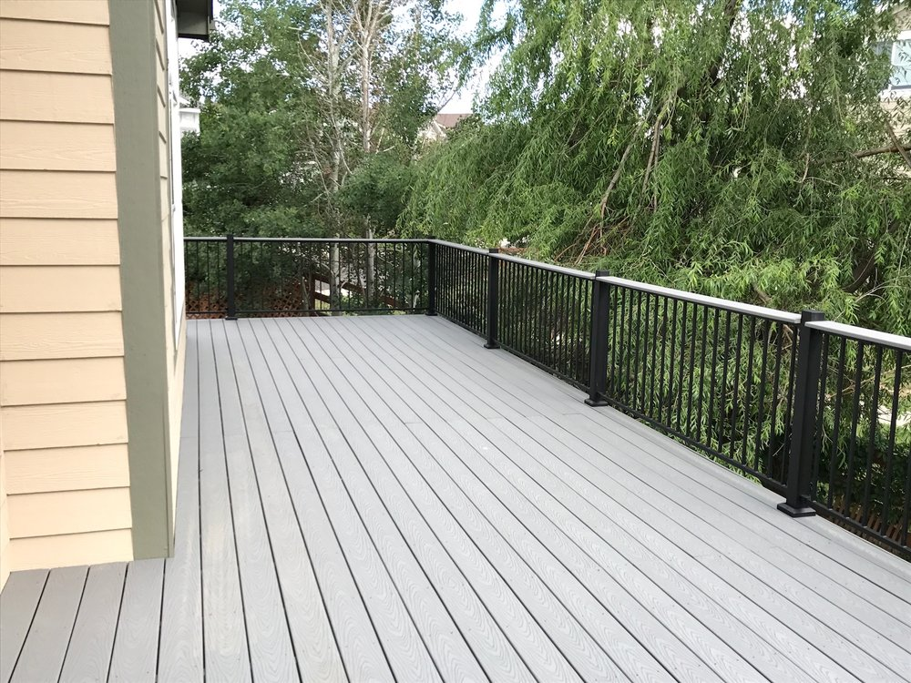Composite Trex - Denver Deck Builders - Grey
