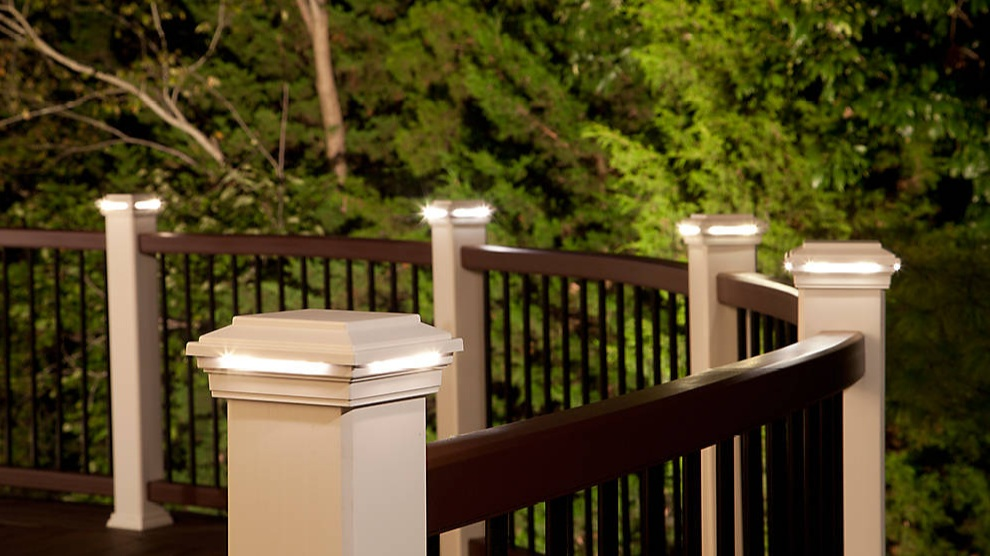 Curved Lighting - Trex Deck