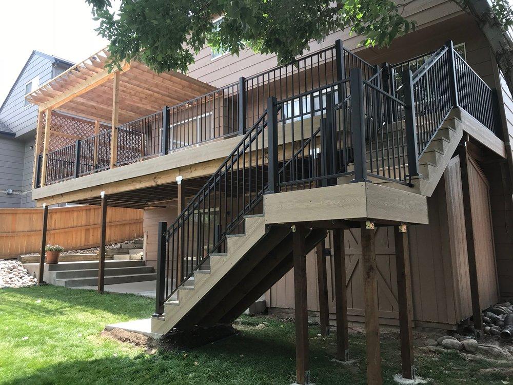 Deck stairs with landing - denver deck builders.jpg