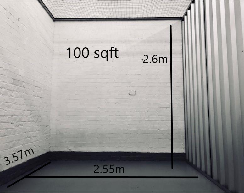 100 sqft