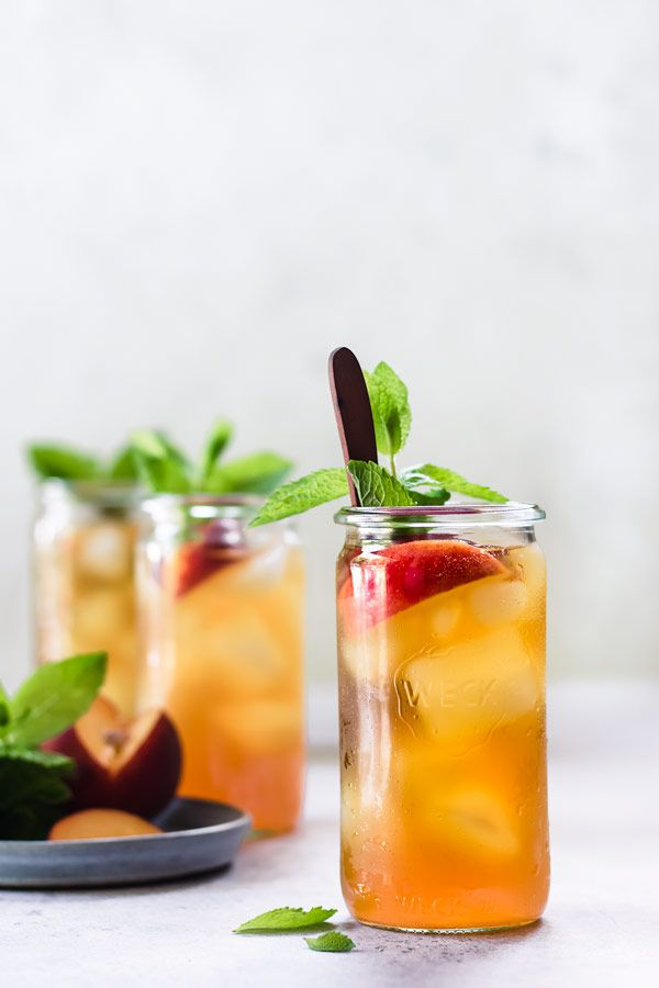 Peach + Ginger Zing - PEACHES WITH A GINGER ZING- THIS SWEET ICED GREEN TEA WILL MAKE YOUR HEART SING!