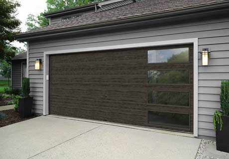 MODERN STEEL™ COLLECTION - Modern Steel™ Collection garage doors perfectly complement contemporary and mid-century modern home styles. Doors are available with or without grooves in multiple paint and Ultra-Grain® finishes to create the perfect look for your home.