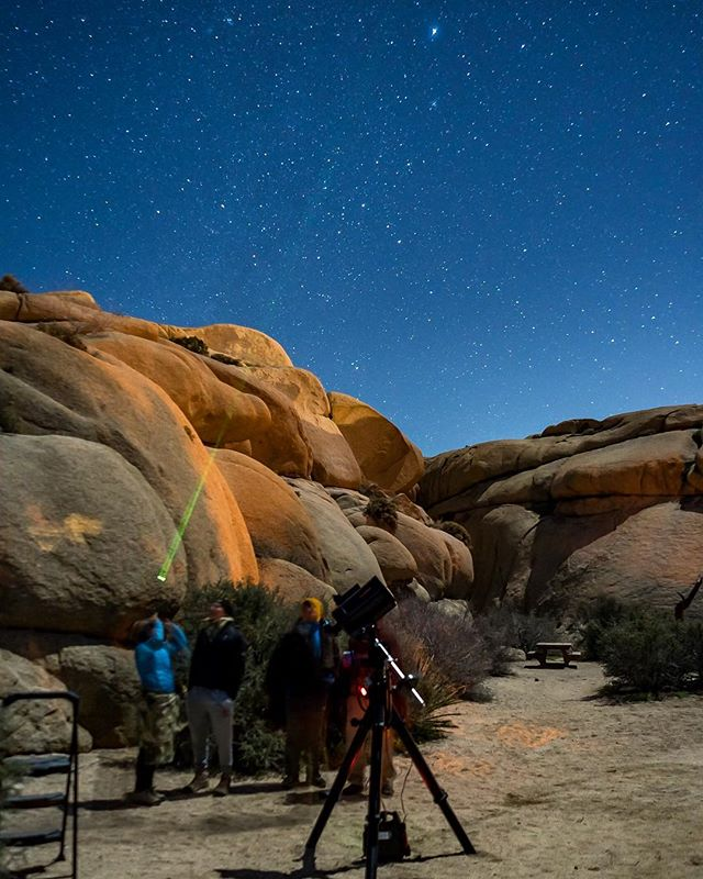 Did you know @joshuatreenps has been designated by the @idadarksky as an International Dark Sky Park? It's no wonder people love our Night Sky Presentation! Add a NSP onto your next sunset hike with us to have your own personal astronomer teach you everything you need to know about the mysterious night sky!