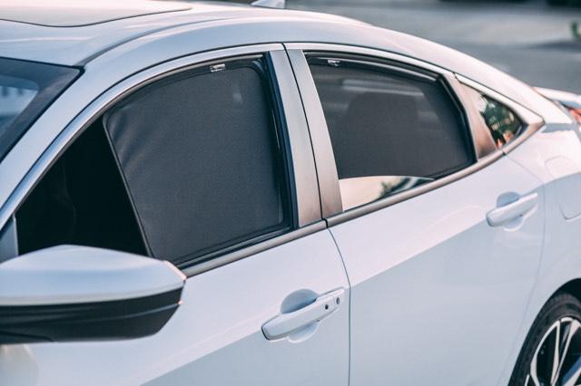 Car Window Shades >> 2016 2020 Honda Civic Sedan 4 Door Samurai Shades Car Window Shade Magnetic Cling Sunshade 4 Door Windows Sun Glare And Uv Protection Premium