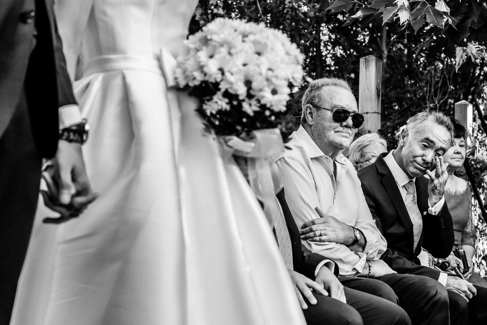 emotions at a wedding ceremony
