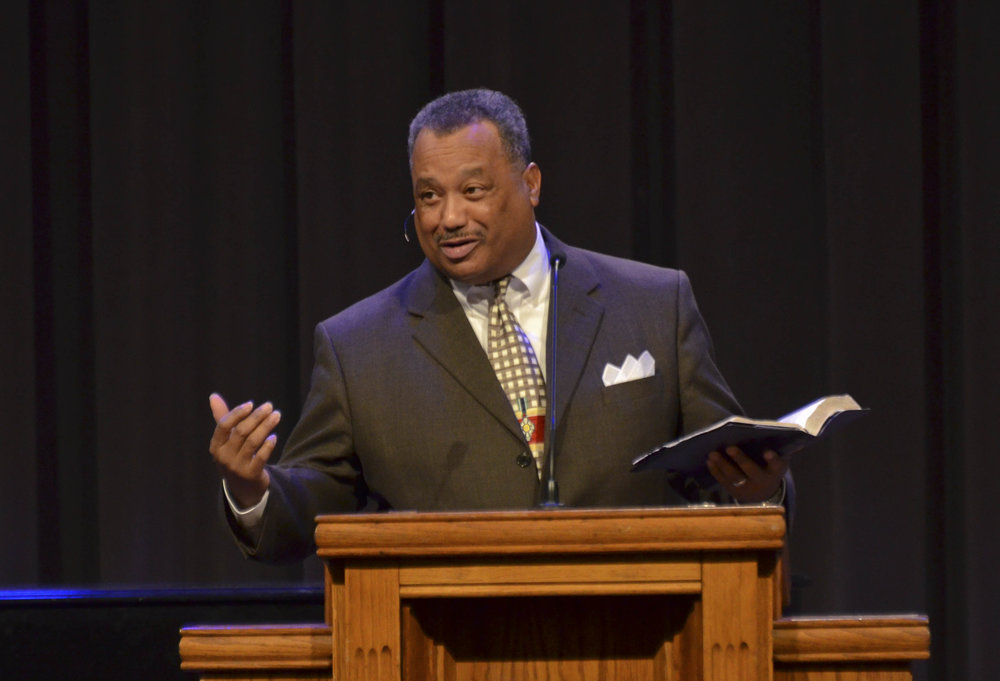 FRED LUTER  PASTOR OF FRANKLIN AVE. BAPTIST CHURCH WILL BE HERE IN REVIVAL APRIL 1-3 AT 7 P.M.