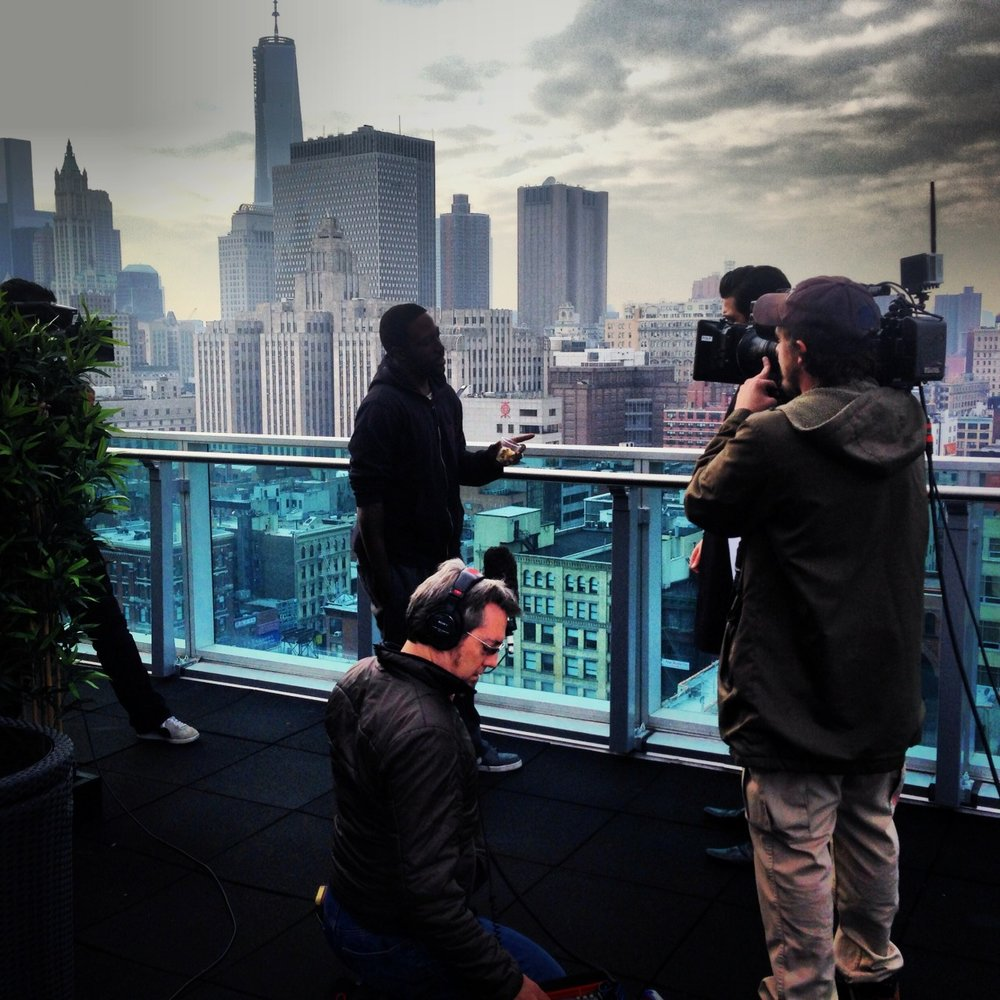 New York shoot for 'Control Freaks' US special.