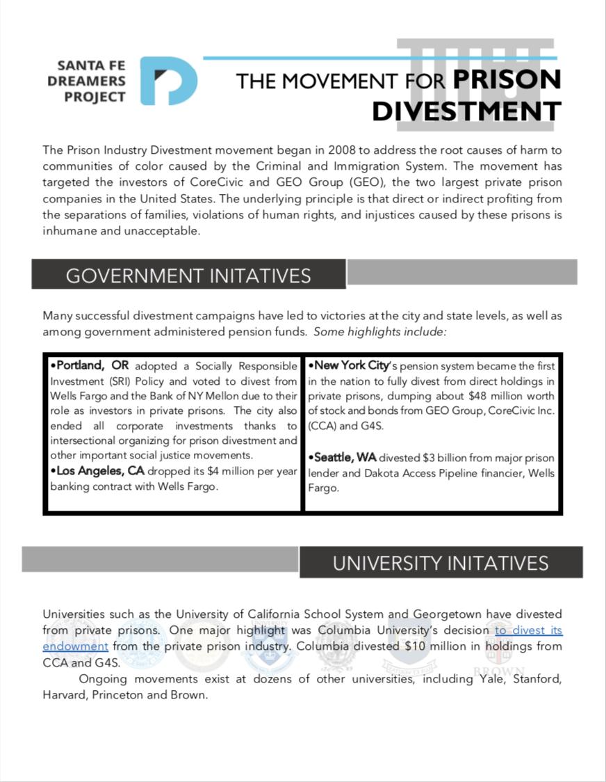 The Prison Divestment Movement