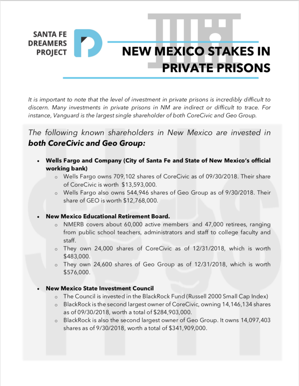 New Mexico's Stakes in the Private Prison Industry